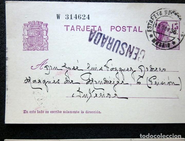 Postales: (JX-191088)LOTE DE 82 TARJETAS POSTALES GUERRA CIVIL.REMITIDAS A JOSE LUIS VAZQUEZ DODERO,PERIODISTA - Foto 36 - 178722716
