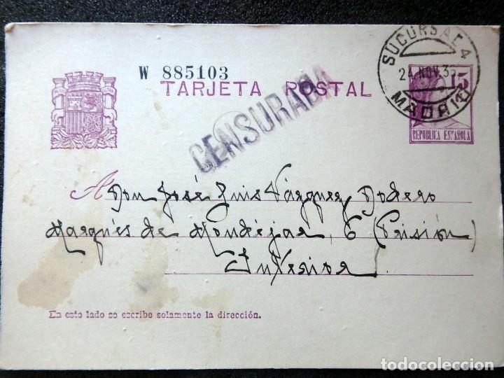 Postales: (JX-191088)LOTE DE 82 TARJETAS POSTALES GUERRA CIVIL.REMITIDAS A JOSE LUIS VAZQUEZ DODERO,PERIODISTA - Foto 37 - 178722716