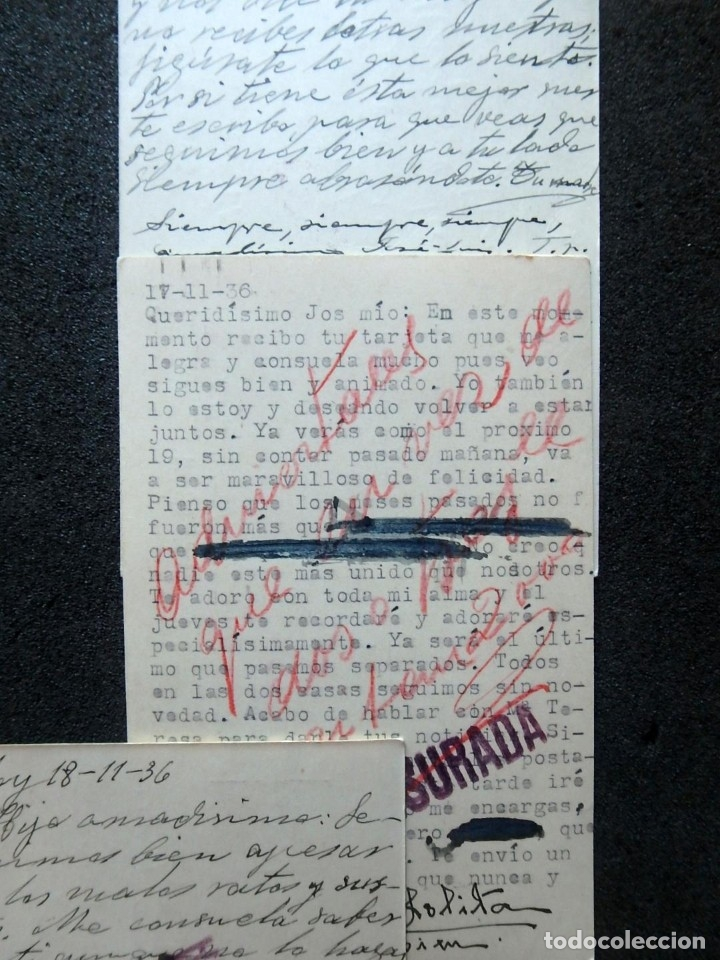 Postales: (JX-191088)LOTE DE 82 TARJETAS POSTALES GUERRA CIVIL.REMITIDAS A JOSE LUIS VAZQUEZ DODERO,PERIODISTA - Foto 42 - 178722716
