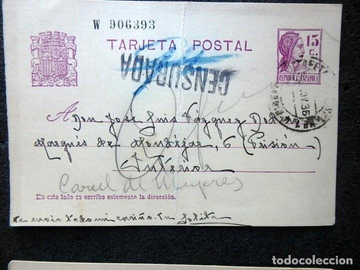 Postales: (JX-191088)LOTE DE 82 TARJETAS POSTALES GUERRA CIVIL.REMITIDAS A JOSE LUIS VAZQUEZ DODERO,PERIODISTA - Foto 46 - 178722716