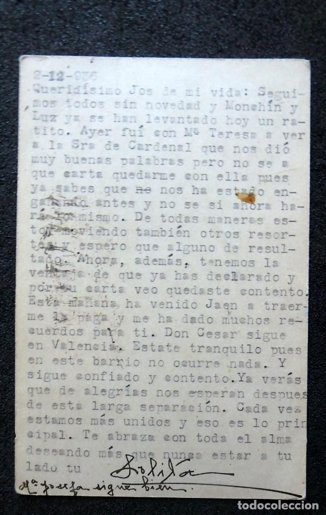 Postales: (JX-191088)LOTE DE 82 TARJETAS POSTALES GUERRA CIVIL.REMITIDAS A JOSE LUIS VAZQUEZ DODERO,PERIODISTA - Foto 48 - 178722716