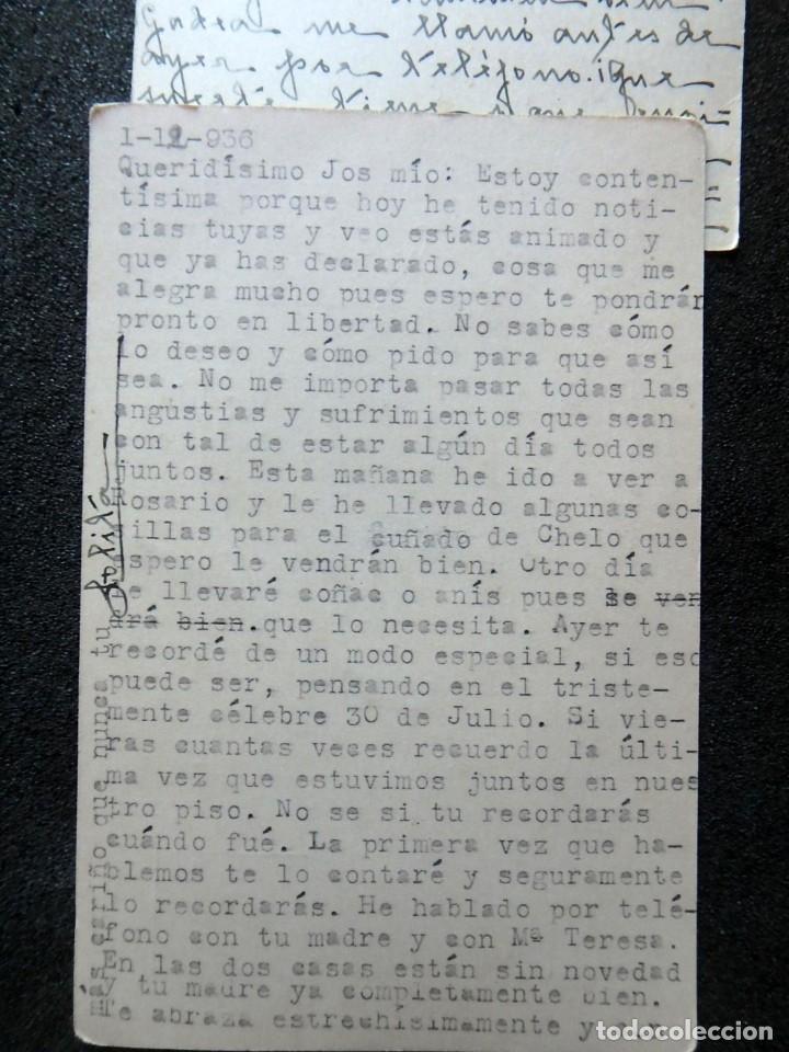 Postales: (JX-191088)LOTE DE 82 TARJETAS POSTALES GUERRA CIVIL.REMITIDAS A JOSE LUIS VAZQUEZ DODERO,PERIODISTA - Foto 49 - 178722716