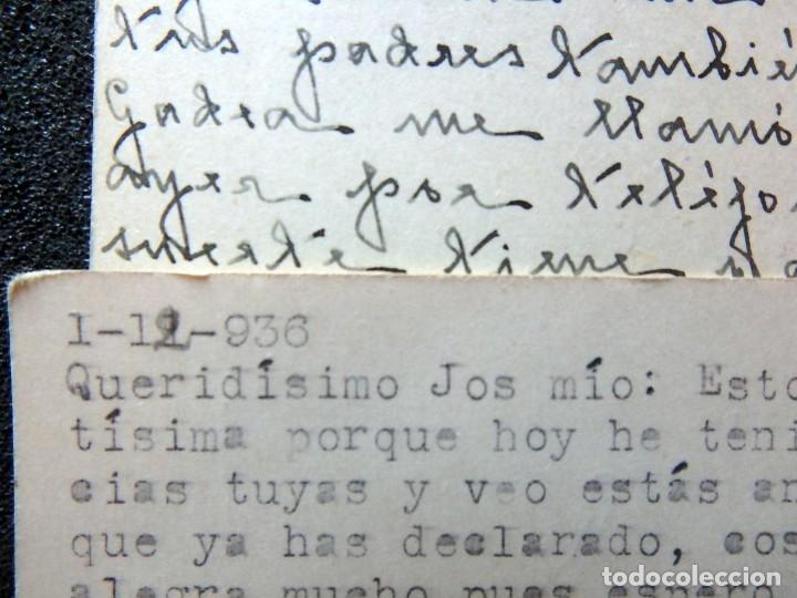 Postales: (JX-191088)LOTE DE 82 TARJETAS POSTALES GUERRA CIVIL.REMITIDAS A JOSE LUIS VAZQUEZ DODERO,PERIODISTA - Foto 50 - 178722716