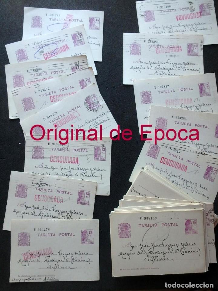 Postales: (JX-191088)LOTE DE 82 TARJETAS POSTALES GUERRA CIVIL.REMITIDAS A JOSE LUIS VAZQUEZ DODERO,PERIODISTA - Foto 56 - 178722716