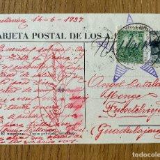 Postales: POSTAL ILUSTRADA GUERRA CIVIL AMIGOS UNION SOVIETICA . CIRCULADA 1937. Lote 179075016