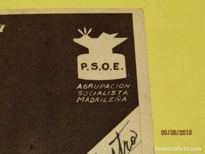 Postales: Tarjeta Postal de Campaña PSOE Agrupación Socialista Madrileña de Plena Guerra Civil - Vallecas 1937 - Foto 2 - 180502237