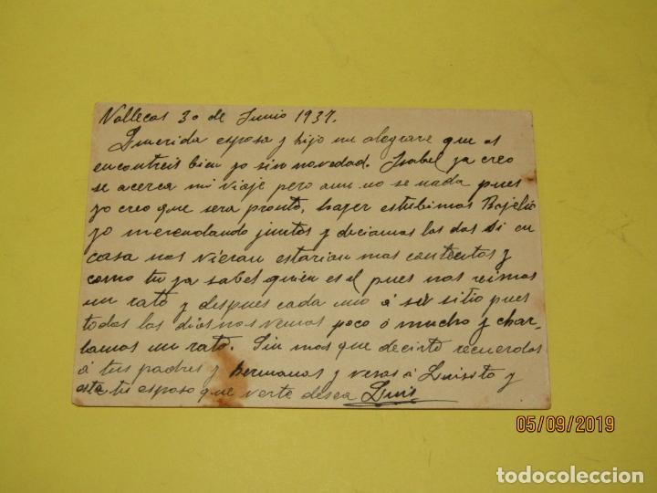 Postales: Tarjeta Postal de Campaña PSOE Agrupación Socialista Madrileña de Plena Guerra Civil - Vallecas 1937 - Foto 4 - 180502237