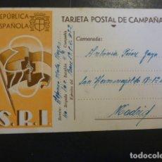 Postales: TARJETA POSTAL DE CAMPAÑA GUERRA CIVIL SOCORRO ROJO INTERNACIONAL 40 BRIGADA 60 BATALLON 4ª CIA. Lote 182173395