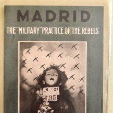 Postales: TARJETA POSTAL- GUERRA CIVIL- REPUBLICANA- MADRID- THE MILITARY PRACTICE THE REBELS. Lote 182381195