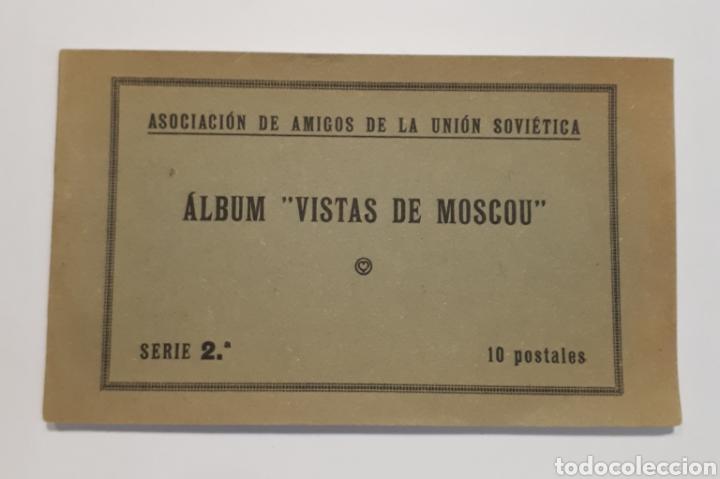 ASOCIACIÓN DE AMIGOS DE LA UNIÓN SOVIÉTICA. ÁLBUM VISTAS DE MOSCOU. (Postales - Postales Temáticas - Guerra Civil Española)