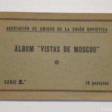 Postales: ASOCIACIÓN DE AMIGOS DE LA UNIÓN SOVIÉTICA. ÁLBUM VISTAS DE MOSCOU.. Lote 183618807