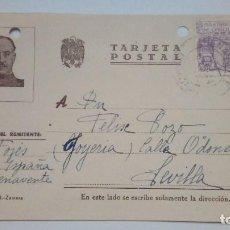 Postales: TARJETA POSTAL ALUSIVA A LA GUERRA 1944 CIRCULADA IMP. BAZAR J. ZAMORA. Lote 184270093