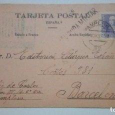 Postales: TARJETA POSTAL SALUDO A FRANCO ARRIBA ESPAÑA CENSURA MILITAR 1939 CIRCULADA. Lote 184273330