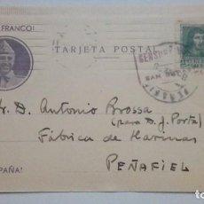 Postales: TARJETA POSTAL VIVA FRANCO VIVA ESPAÑA 1938 CIRCULADA . Lote 184273973
