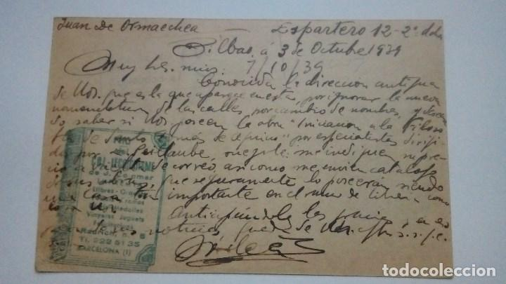 Postales: TARJETA POSTAL ALUSIVA A FRANCO VIVA ESPAÑA VIVA FRANCO CENSURA MILITAR 1939 CIRCULADA - Foto 2 - 184274850