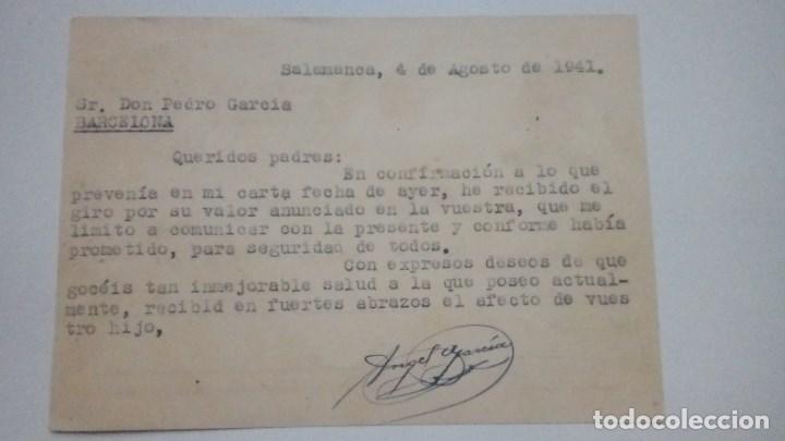 Postales: TARJETA POSTAL ALUSIVA A FRANCO IMP. BAZAR J. ZAMORA 1941 CIRCULADA - Foto 2 - 184354702