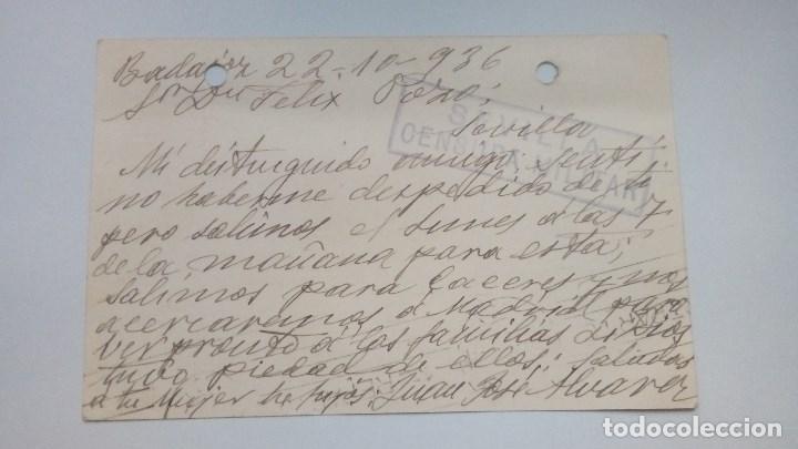 Postales: TARJETA POSTAL ALUSIVA AL FRANQUISMO 1936 CIRCULADA - Foto 2 - 184774085