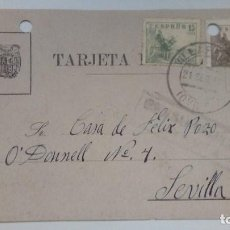 Postales: TARJETA POSTAL ALUSIVA AL FRANQUISMO 1941 CIRCULADA. Lote 184774136