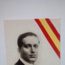 Postales: TARJETA POSTAL JOSE CALVO SOTELO COBARDEMENTE ASESINADO EL 13 DE JULIO DE 1936 CON BANDERA EN LA MIS. Lote 185718058