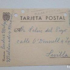 Postales: TARJETA POSTAL ALUSIVA AL FRANQUISMO CIRCULADA AÑOS 30. Lote 185875205