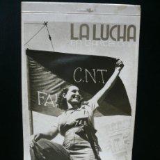 Postales: POSTAL GUERRA CIVIL. COLECCIÓN COMPLETA DE 10 POSTALES 'LA LUCHA EN BARCELONA'. EDICIONES CNT-FAI.. Lote 186051598