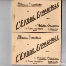 Cartes Postales: L'EXODE ESPAGNOLE DANS LES PYRÉNÉES ORIENTAL. ALBUMS 1 Y 2. CONTIENEN 36 POSTALES DE LA GUERRA CIVIL. Lote 186123707