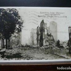Postales: POSTAL GUERRA CIVIL. BOMBARDEO DE GUERNIKA. GERNIKA ZIÑOPA. CIRCULADA.. Lote 186296837