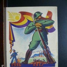 Postales: POSTAL GUERRA CIVIL. HOMENAJE AL EJÉRCITO POPULAR ESPAÑOL. EDITADA EN FRANCIA.. Lote 186301290