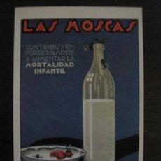 Postales: GUERRA CIVIL-LAS MOSCAS-MORTALIDAD INFANTIL-DIRECCION GRAL SANIDAD-POSTAL ANTIGUA-VER FOTOS-(65.806). Lote 190154595