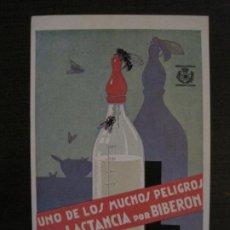 Postales: GUERRA CIVIL-LAS MOSCAS-PELIGROS DEL BIBERON-DIRECCION GRAL SANIDAD-POSTAL ANTIGUA-VER FOTOS(65.807). Lote 190154823