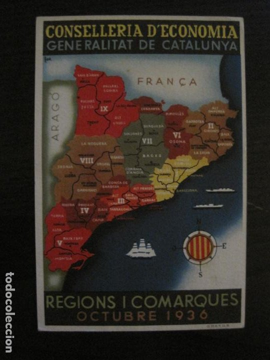 GUERRA CIVIL-GENERALITAT CATALUNYA-CONSELLERIA ECONOMIA-ANY 1936-POSTAL ANTIGUA-VER FOTOS-(65.808) (Postales - Postales Temáticas - Guerra Civil Española)