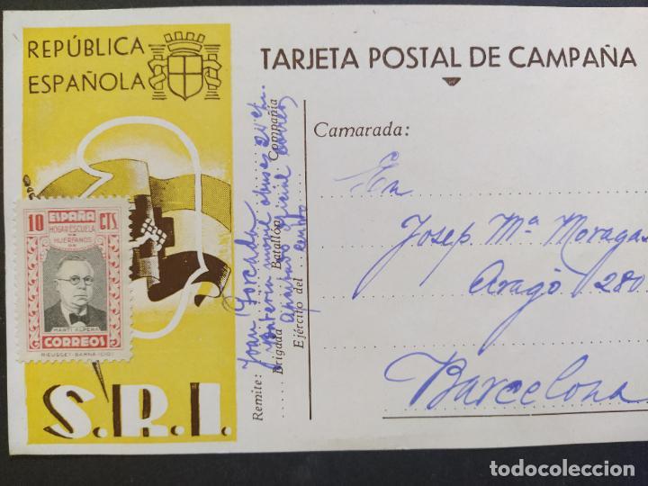 Postales: GUERRA CIVIL-REPUBLICA ESPAÑOLA-S.R.I.-TARJETA POSTAL DE CAMPAÑA-POSTAL PUBLICIDAD ANTIGUA-(65.934) - Foto 2 - 190287246