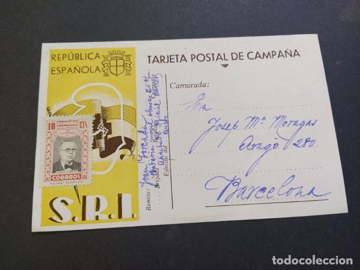 Postales: GUERRA CIVIL-REPUBLICA ESPAÑOLA-S.R.I.-TARJETA POSTAL DE CAMPAÑA-POSTAL PUBLICIDAD ANTIGUA-(65.934) - Foto 3 - 190287246