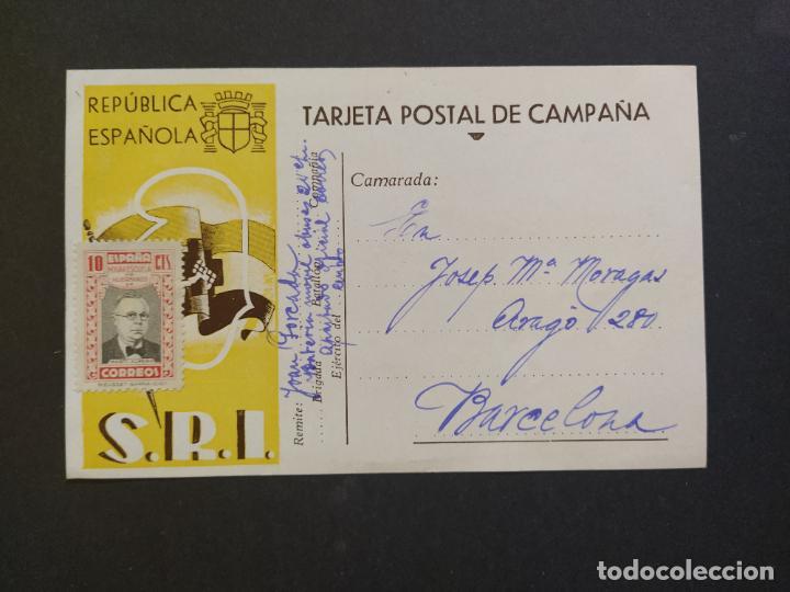 GUERRA CIVIL-REPUBLICA ESPAÑOLA-S.R.I.-TARJETA POSTAL DE CAMPAÑA-POSTAL PUBLICIDAD ANTIGUA-(65.934) (Postales - Postales Temáticas - Guerra Civil Española)