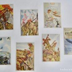 Postales: LOTE DE 7 POSTALES. COLECCIÓN ARTÍFICES DE LA VICTORIA. DIBUJANTE C.S. DE TEJADA. ESTADO EXCELENTE. Lote 191634525