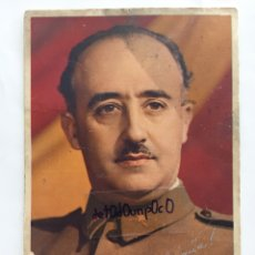 Postales: POSTAL FRANCISCO FRANCO. ARRIBA ESPAÑA. FIRMADA.. Lote 191971756