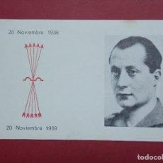 Postales: TARJETA DIA DE JOSE ANTONIO PRIMO DE RIVERA Y CAIDOS 1936 /1969 - MISA IGLESIA SAGRADO CORAZON L633. Lote 193313806