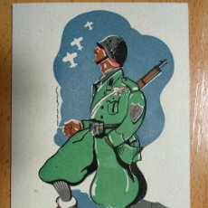 Postales: ANTIGUA POSTAL ILUSTRADA GUERRA CIVIL. VOLUNTARIO ITALIANO EJERCITO NACIONAL. FIRMADA TEOK. Lote 193889568