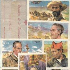 Postales: 10 POSTALES EDICION EXCLUSIVA CRUZ ROJA - SERIE A. EPISODIOS DE LA REVOLUCIÓN. ED. MOLERO. NO ESCRIT. Lote 194240545