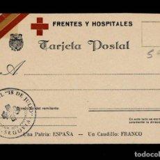 Postales: C1-52 SEGOVIA - GUERRA CIVIL - TARJETA POSTAL DE FRENTES Y HOSPITALES - OBRA SINDICAL 18 DE JULIO - . Lote 194724756