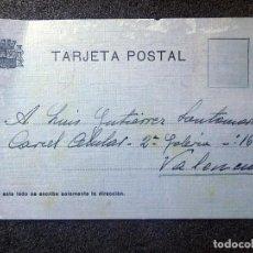Postales: (JX-200251)TARJETA POSTAL ENVIADA A D.LUIS G.SANTA MARINA , CÁRCEL CELULAR DE VALENCIA .. Lote 195346507
