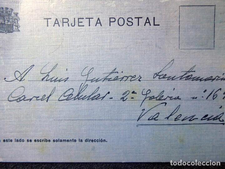 Postales: (JX-200251)Tarjeta postal enviada a D.Luis G.Santa Marina , Cárcel Celular de Valencia . - Foto 2 - 195346507