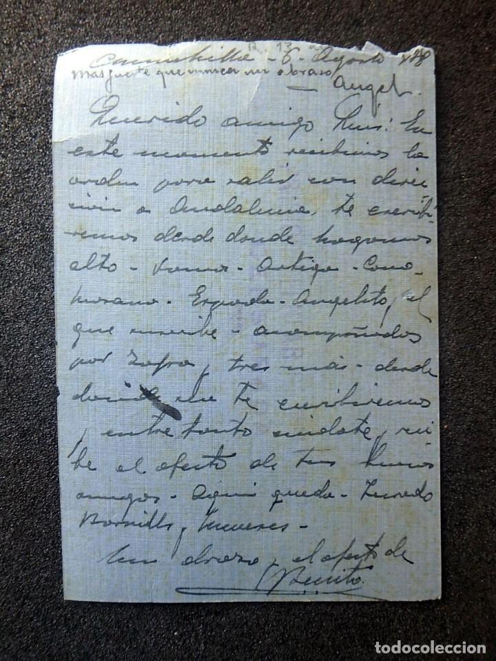Postales: (JX-200251)Tarjeta postal enviada a D.Luis G.Santa Marina , Cárcel Celular de Valencia . - Foto 3 - 195346507