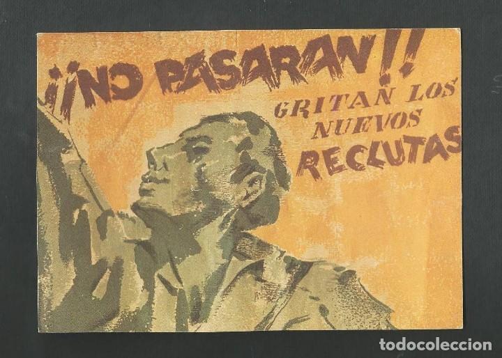 POSTAL CIRCULADA - GUERRA CIVIL ESPAÑOLA - NO PASARAN - EDITA STUDY BOOMERANG (Postales - Postales Temáticas - Guerra Civil Española)