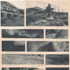 Postales: GUERRA CIVIL, CINTURÓN DE HIERRO DE BILBAO, SERIE I, 12 POSTALES COMPLETO.. Lote 195884972