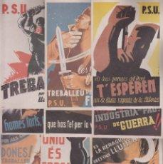 Postales: GUERRA CIVIL, SERIE COMPLETA 20 TARJETAS. EDIT POR P.SU - U.G.T. VER FOTOS- LEER DESCRIPCIÓN. Lote 195890722