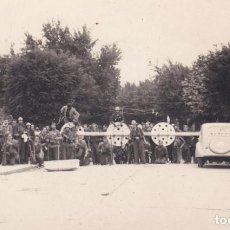 Postales: FOTO POSTAL GUERRA CIVIL PUENTE INTERNACIONAL INSURGENTES EN FRONTERA IRUN 05.09.1936. Lote 195980285