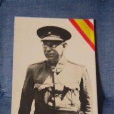 Postales: RARA POSTAL PATRIÓTICA. GENERAL MOLA CON BANDERA. .SIN CIRCULAR . Lote 197043450