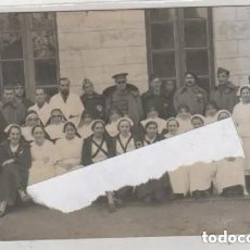 Postales: POSTAL FOTOGRÁFICA. AGUILAR OCTURBRE DE 1936. FOTO ALONSO PALENCIA. GRUPO DE MILITARES Y ENFERMERAS.. Lote 197141995