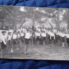 Postales: CAMPAMENTO LA SALLE EN SANTA PONSA. JULIO 1937 II AÑO TRIUNFAL. SIN CIRCULAR.. Lote 197451390
